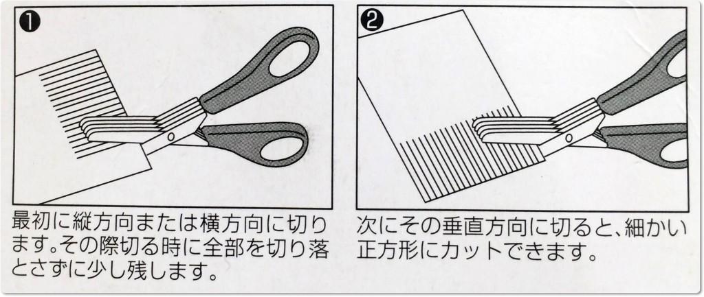 シュレッダーハサミ 使用方法