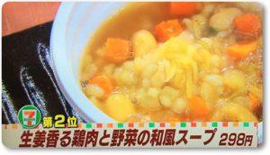 生姜香る鶏肉と野菜の和風スープ
