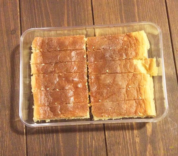 低糖質チーズケーキ切る