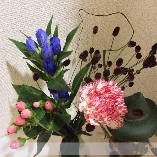 ブルーミーライフお花飾る2