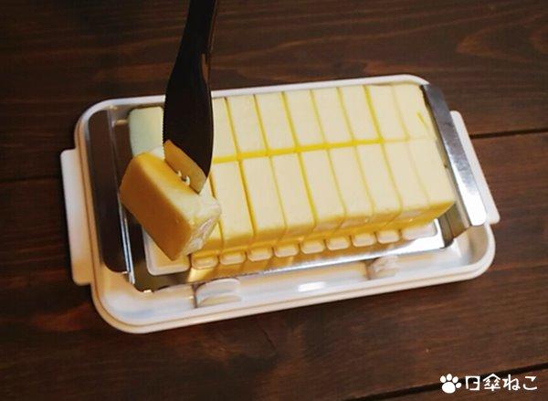 ステンレスカッター付きバターケース6