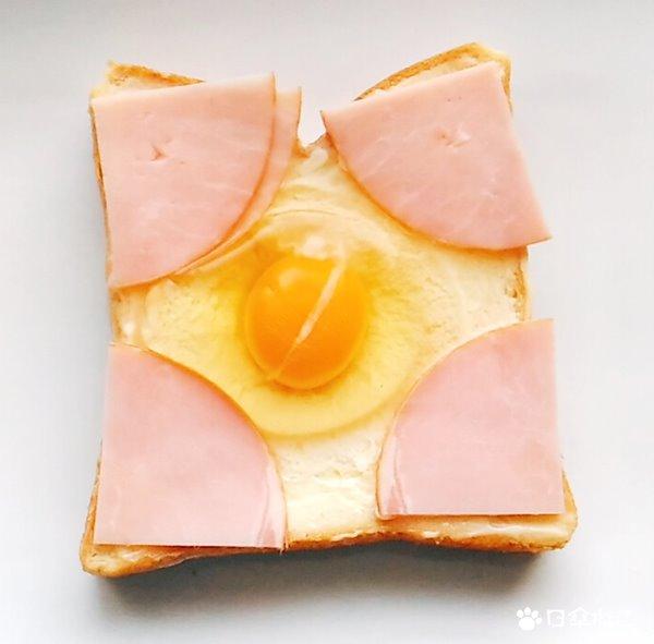 揚げないハムカツエッグトースト4
