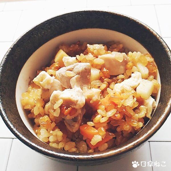 焼肉のたれで作る炊き込みご飯3