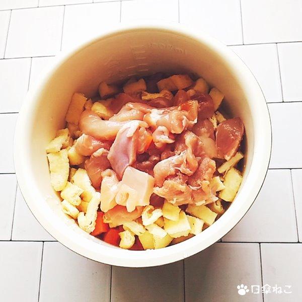 焼肉のたれで作る炊き込みご飯2
