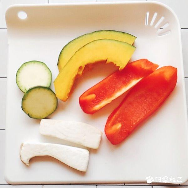 魚焼きグリルで焼き野菜1